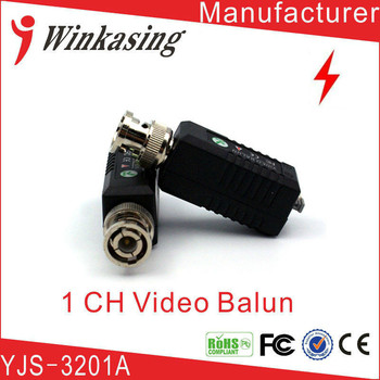20 adet 1CH Pasif Video Balun BNC Cat5 UTP Twisted Pair CCTV Güvenlik Kamera Için