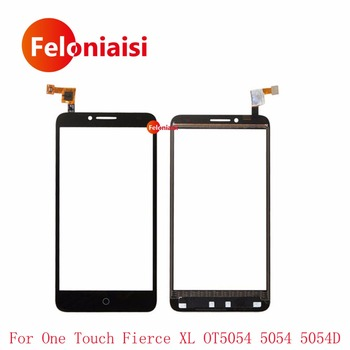 "10 Adet/grup 5.5 ""Alcatel One Touch Fierce XL OT5054 5054 5054D Dokunmatik Ekran Digitizer Sensörü Ön Cam Lens Panel + Takip"