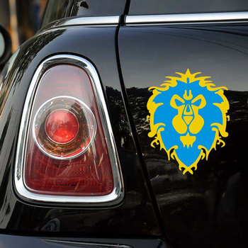 Aliauto Araba-styling World of warcraft Lionhead Yansıtıcı Araba Sticker Ve Decla Ford Odak 2 3 Fiesta Honda Için Volkswagen